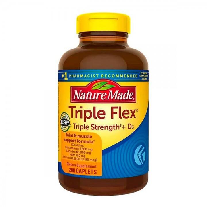 Nature Made Triple Flex Triple Strength + D3 50 mcg 200 Capsulas V3259 Nature Made