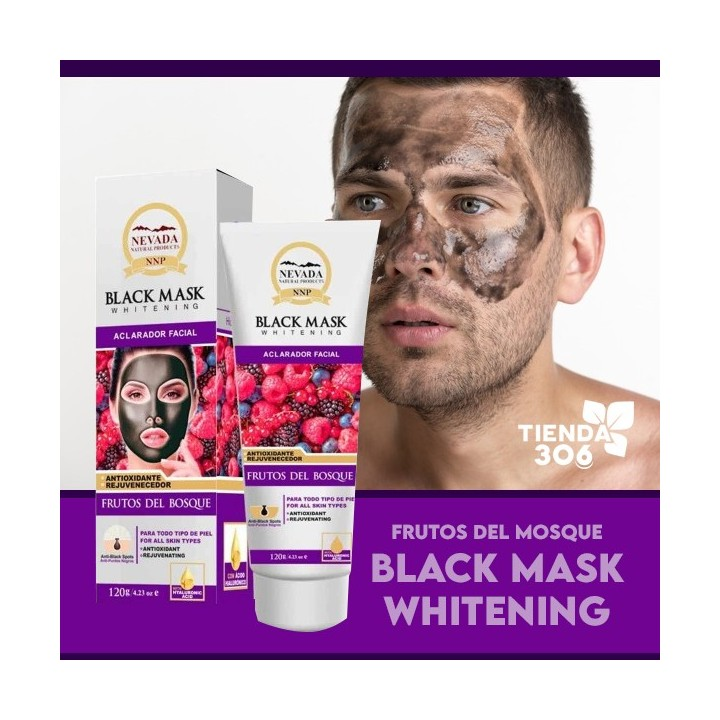 NEVADA NATURAL PRODUCTS Mascarilla Black Mask de Frutos del Bosque Aclarador Facial120g C1119 Nevada Natural Products