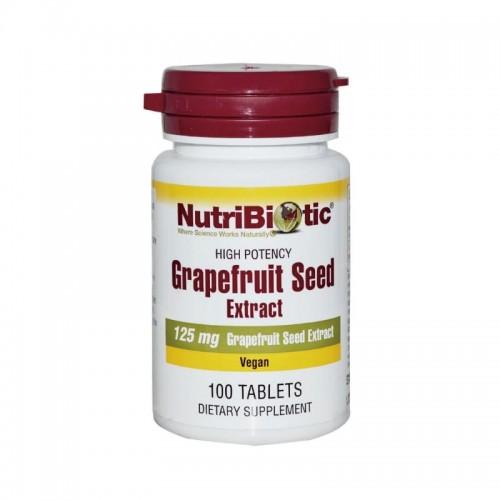 Extracto de Semilla de Pomelo Nutribiotic 125 mg 100 Tabletas Vegetarianas V3007 NutriBiotic