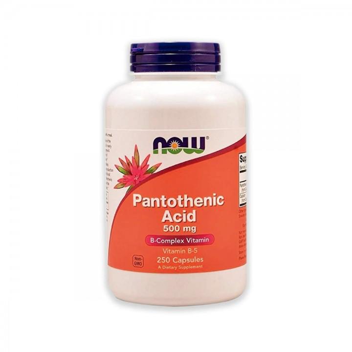 Acido Pantotenico / Pantothenic Acid Vitamina B-5 Now Foods 500 mg 250 Capsulas - Tienda 306
