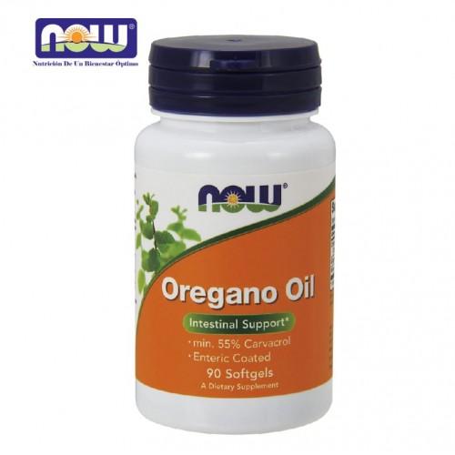 Now Foods Aceite de Orégano mim. 55% Carvacrol 90 Cápsulas Blandas V3037 Now Nutrition for Optimal Wellness