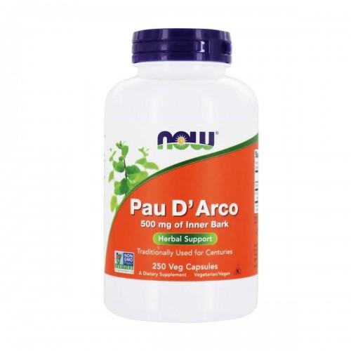 Palo de Arco (Pau D' Arco) Corteza Interior Now Foods 500 mg 250 Cápsulas Vegetarianas V3053 Now Nutrition for Optimal Wellness