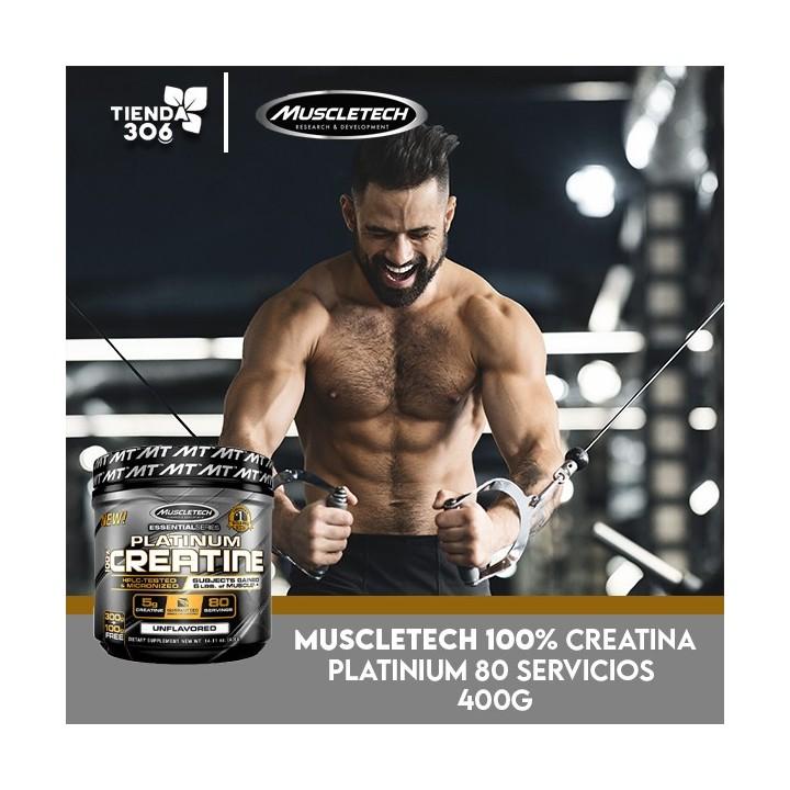 MUSCLETECH 100% Creatina Platinium 5g 80 Servicios 400g V3057 MuscleTech