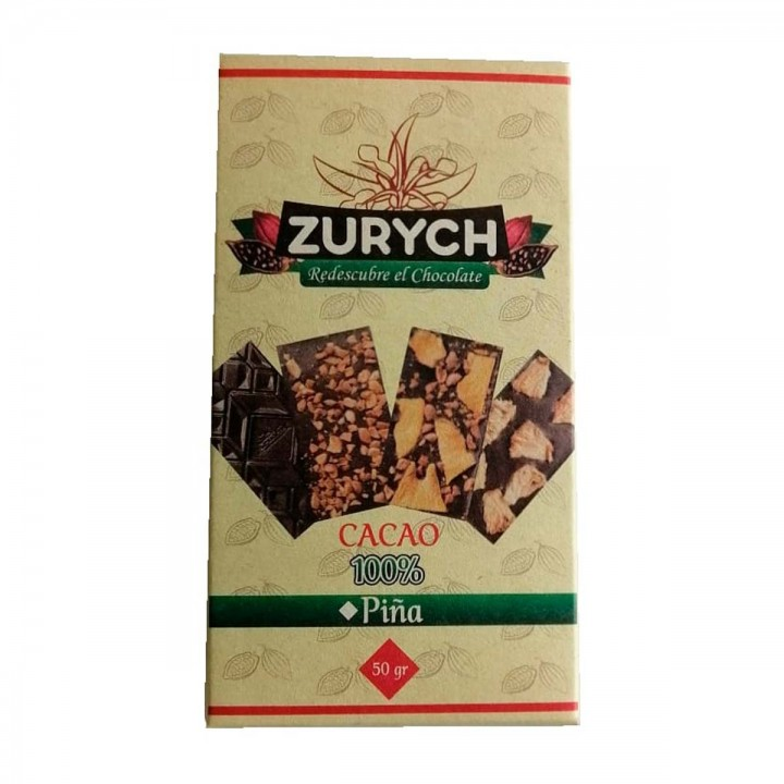 Zurych Chocolate Saludable 100% Cacao 50 Gr
