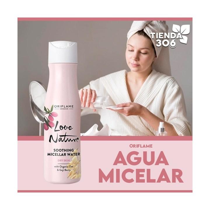 Agua Micelar Suavizante Oriflame Love Nature Con Avena Orgánica Y Bayas De Goji 150 ml C1067 Oriflame