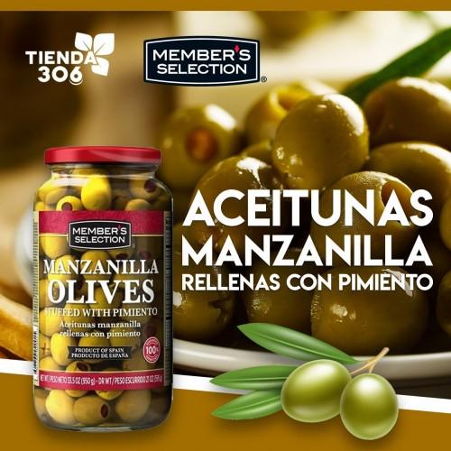 Aceitunas Manzanilla Rellenas con Pimiento Member's Selection D1144 Members Selection