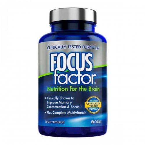 Focus Factor Nutrición Para el Cerebro Suplemento No. 1 en USA 180 Tabletas V3001 Focus Factor