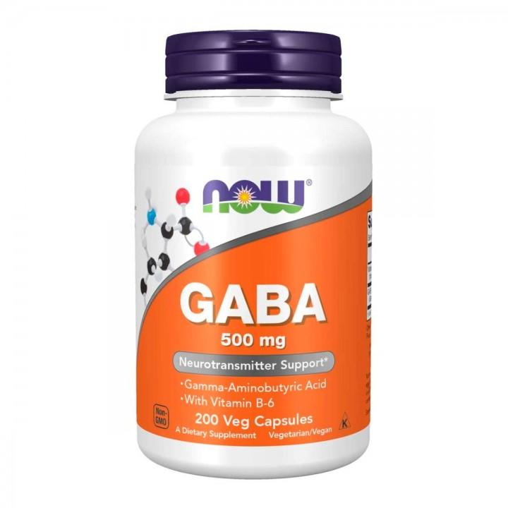 Now Foods Gaba 500 Mg Neurotransmisor + Vitamina B-6