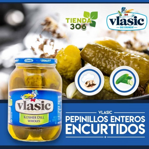 Vlasic Pepinillos Enteros Encurtidos kosher Eneldo 1,36L D1161 Vlasic