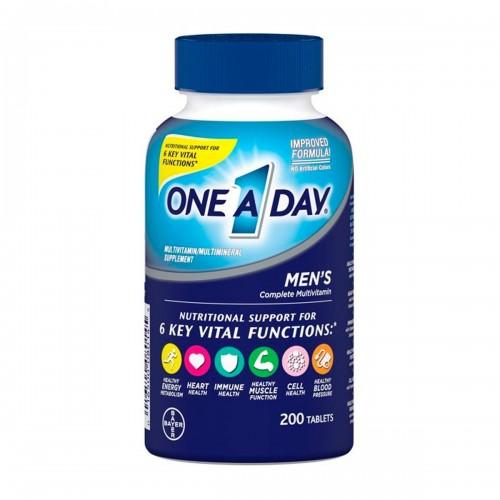 One A Day Hombres Bayer Suplemento Multivitaminico/ Multimineral 200 Tabletas V3205 Bayer
