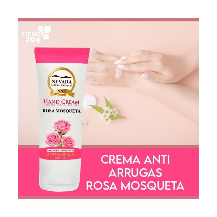 NEVADA NATURAL PRODUCTS Crema para Manos Anti Arrugas con Rosa Mosqueta 80 ml (2.7 Oz) C1114 Nevada Natural Products