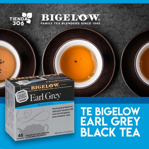 Te Bigelow Earl Grey Black Tea 40 Bolsitas 67g T2064 BIGELOW