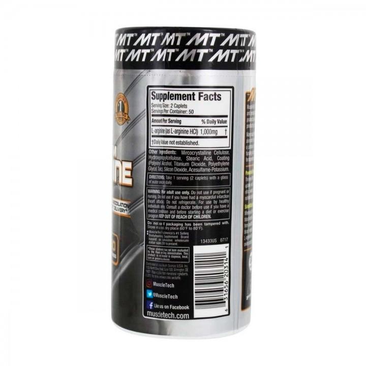 Muscletech L-Arginine Platinum 100 Capsulas 1000mg V3162 MuscleTech