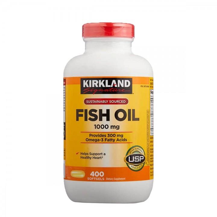 Omega 3 Fish Oíl Kirkland Signature 1000 mg 400 Cápsulas Blandas V3020 Kirkland Signature