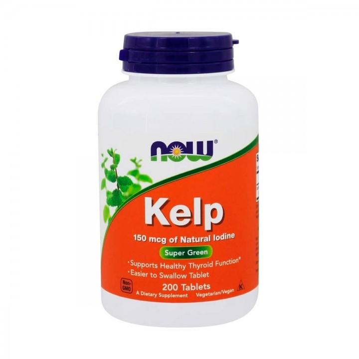 Now Foods Kelp 150 mcg de yodo natural 200 tabletas V3208 Now Nutrition for Optimal Wellness