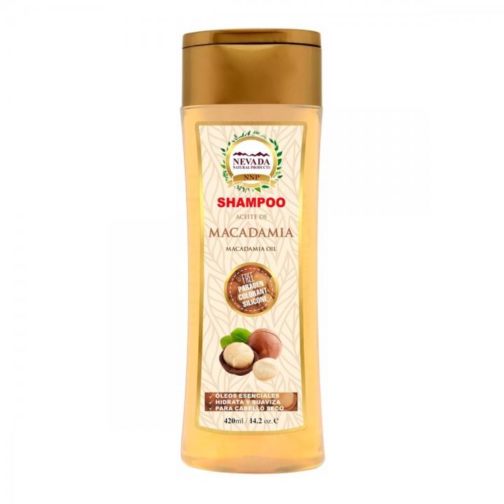 Nevada Shampoo Aceite de Macadamia Libre de Parabenos Colorantes y Silicona 420ML C1175 Nevada Natural Products