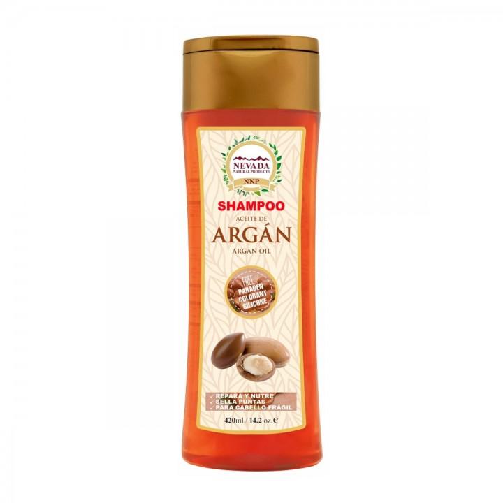 Nevada Shampoo Aceite de Argan Libre de Parabenos Colorantes y Silicona 420ML C1176 Nevada Natural Products