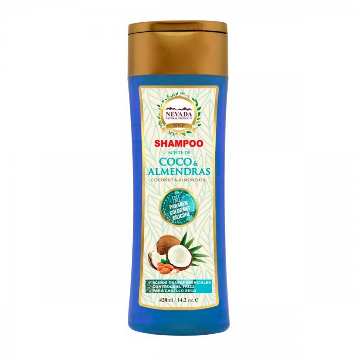 Nevada Shampoo Aceite de Coco y Almendras Libre de Parabenos Colorantes y Silicona 420ML C1177 Nevada Natural Products