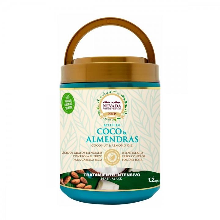 Nevada Tratamiento Aceite de Coco y Almendras Libre de Parabenos, Colorantes y Silicona 1.2 Kg C1180 Nevada Natural Products