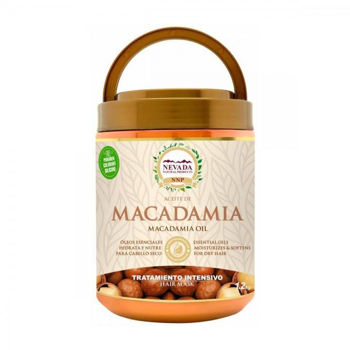 Nevada Tratamiento Aceite de Macadamia Libre de Parabenos, Colorantes y Silicona 1.2 Kg C1181 Nevada Natural Products