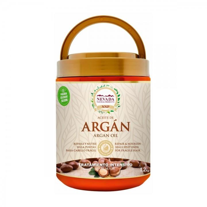 Nevada Tratamiento Aceite de Argan Libre de Parabenos, Colorantes y Silicona 1.2 Kg C1182 Nevada Natural Products