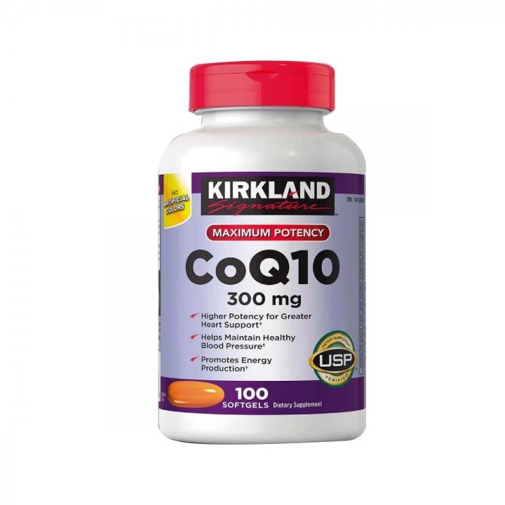 CoQ10 Coenzyme KIRKLAND Signature 300 mg 100 Capsulas Blandas V3021 Kirkland Signature