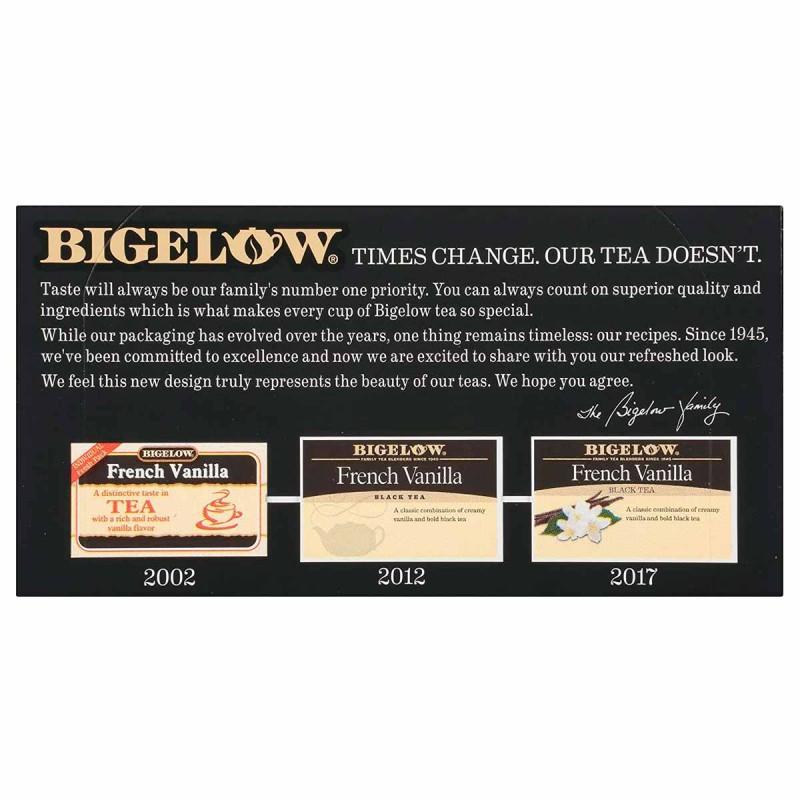 Bigelow Te Negro Vainilla Francesa 20 Bolsitas 36g T2070 BIGELOW