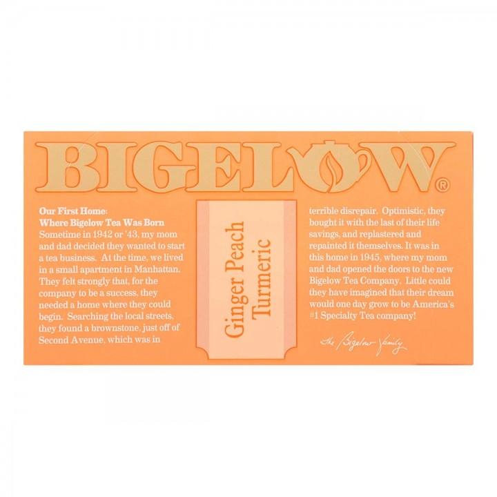 Bigelow Te Herbal Gengibre Durazno y Curcuma 18 Bolsitas (27g) T2071 BIGELOW