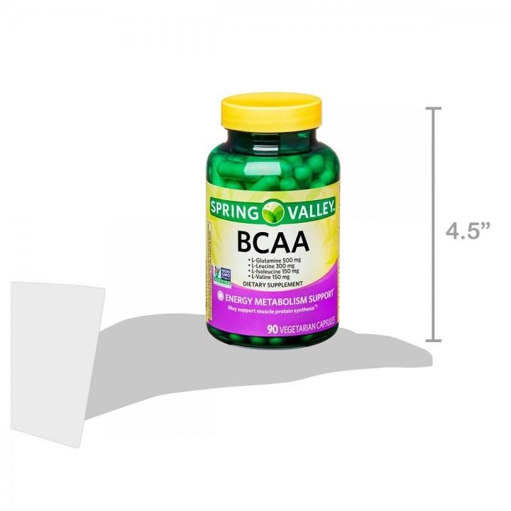 Spring Valley Bcaa Apoyo al Metabolismo Energetico 90 Capsulas Vegetarianas V3029 SPRING VALLEY