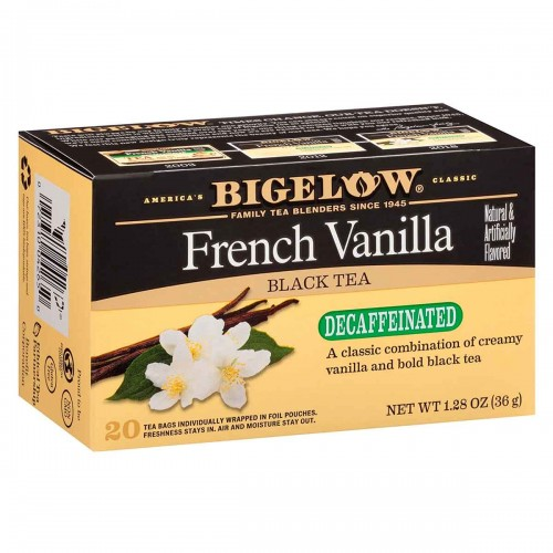 Te BIGELOW Black Tea Decaffeinate French Vainilla 20 Bolsitas 36g T2053 BIGELOW