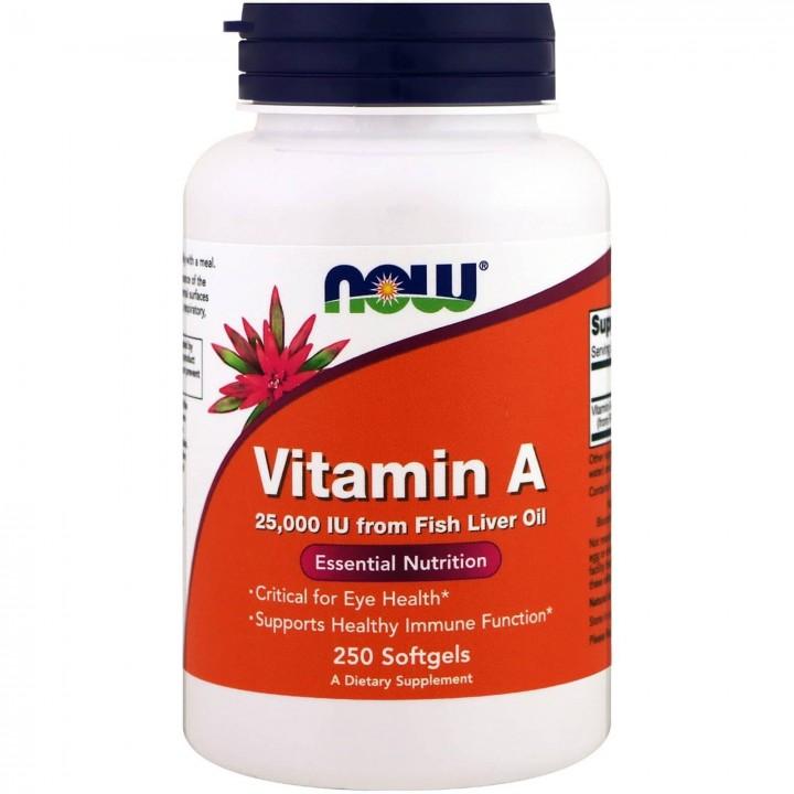 Now Foods Vitamina A 25,000 IU de Aceite de Higado de Pescado Tienda 306