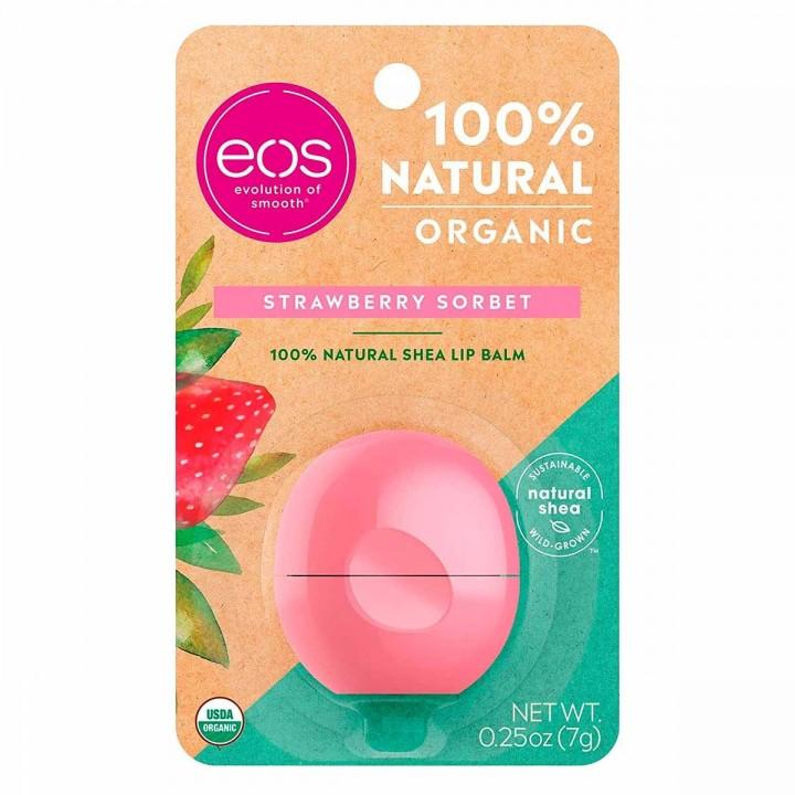 Brillo labial balsamo Eos evolution Strawberry Sorbet 25 oz (7g) C1089 eos-evolution of smooth