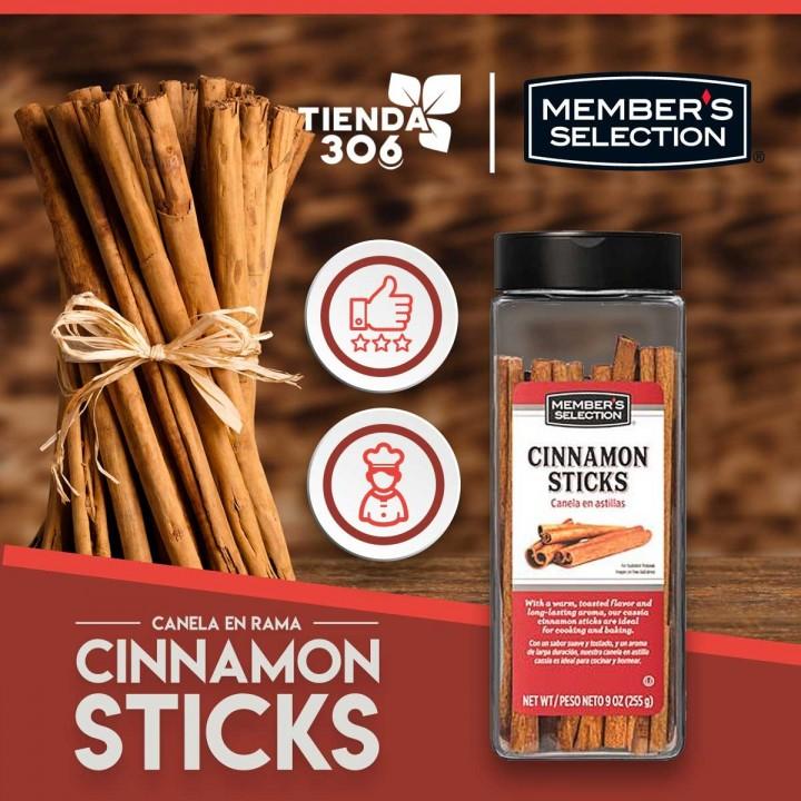 Canela en Rama (Cinnamon Sticks) Members Selection 9OZ (255 g) D1192 Members Selection