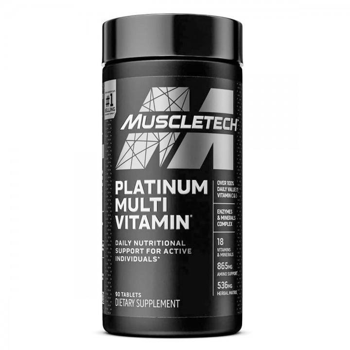 MUSCLETECH Platinum Multivitaminico Formula Diaria Avanzada 90 Tabletas V3286 MuscleTech