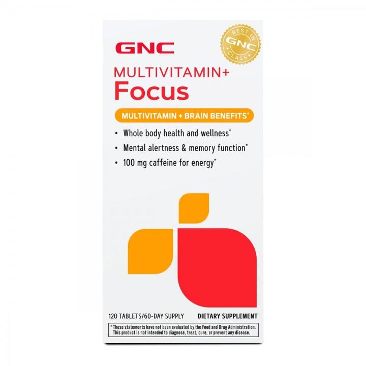 GNC Multimitaminico + FOCUS Apoyo a la Salud Mental 120 Tabletas V3223 GNC