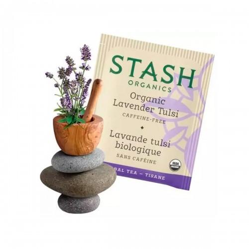 Te Stash Organico Lavanda Tulsi 18 Bolsitas (23 g 0.8 Oz) T2073 STASH