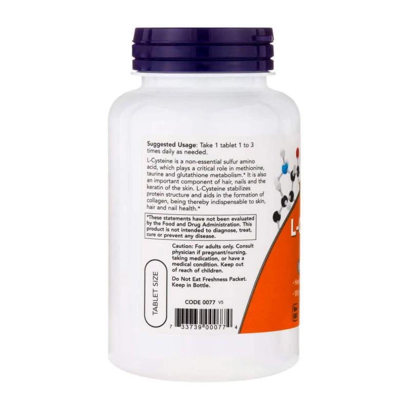 Now L-Cisteina 500 Mg Con Vitamina B6 Y C 100 Tabletas V3228 Now Nutrition for Optimal Wellness