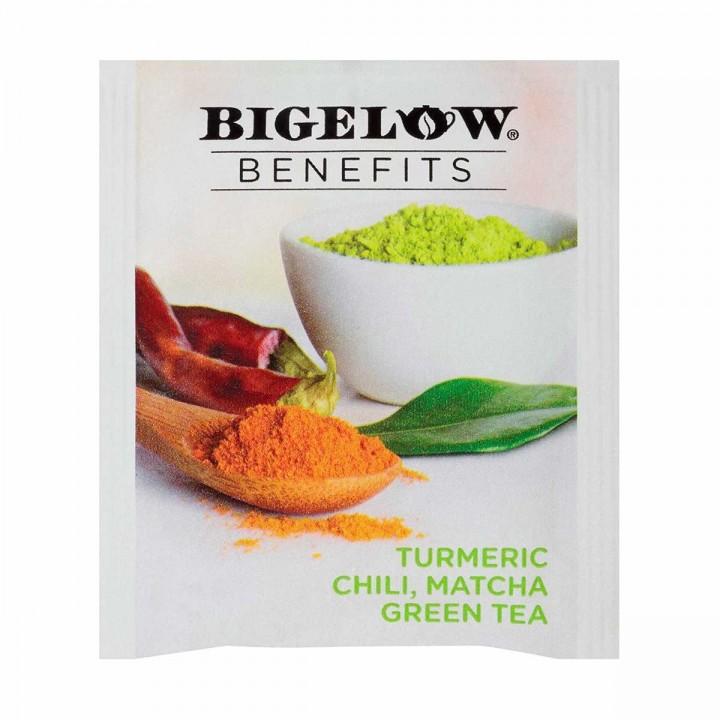 Té Bigelow de Curcuma Chili Matcha y Té Verde 18 Bolsitas 32g T2076 BIGELOW