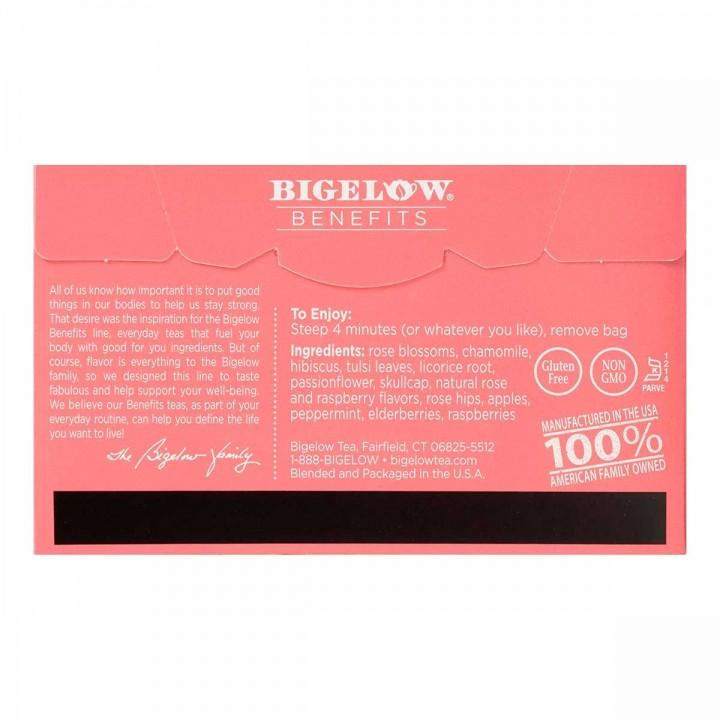 Bigelow Te Herbal Rosa y Menta 18 Bolsitas 32g T2077