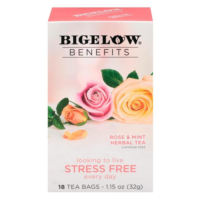 Té Bigelow Herbal Rosa y Menta Libre de Cafeína 18 Bolsitas 32g T2077 BIGELOW