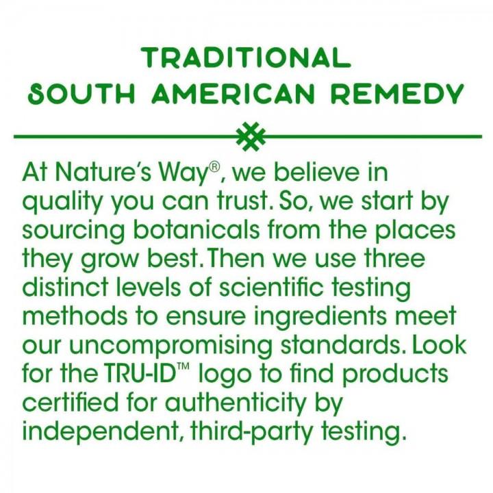 Natures Way Palo De Arco Apoyo Sistema Inmune 1,09 Mg 180 Capsulas V3231 Nature's Way