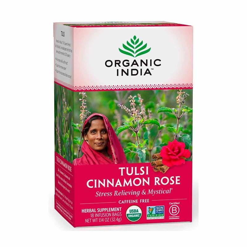 Organic India Te Herbal Tulsi Cinnamon Rose 18 Bolsitas (32.4 G) T2079 ORGANIC INDIA