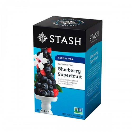 Te STASH Herbal Tea Caffeine-Free Blueberry Superfruit 20 Bolsitas 38 g T2017 STASH