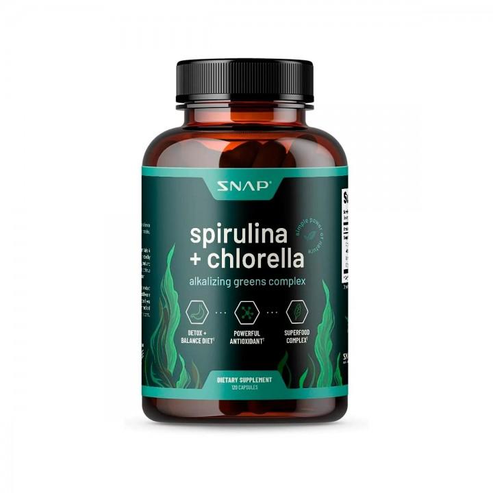 SNAP Spirulina con Chlorella 120 Cápsulas V3246 SNAP