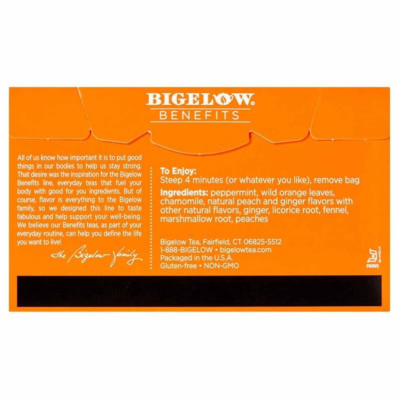 Bigelow Te Herbal Durazno y Jengibre 18 Bolsitas 32g T2078 BIGELOW