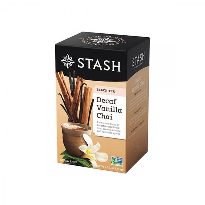 Te STASH Black Tea Decaf Vainilla Chai 18 Bolsitas 36 g T2018 STASH