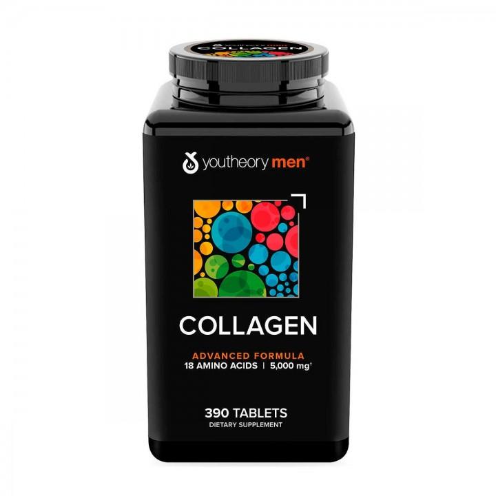 Youtheory Colageno Para Hombre 390 Tabletas V3280 Youtheory