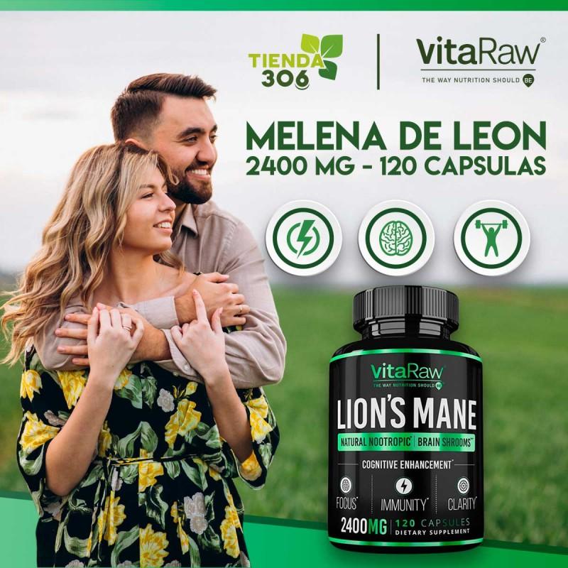 VitaRaw Melena De Leon 2400 Mg 120 Capsulas V3291 VitaRaw
