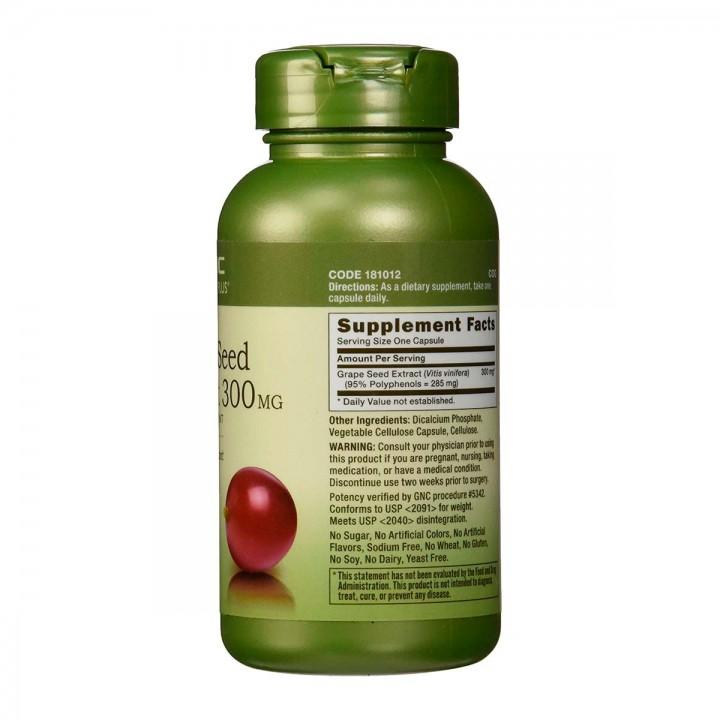 Gnc Extracto De Semilla De Uva Antioxidante 300mg 100 Capsulas V3190 GNC