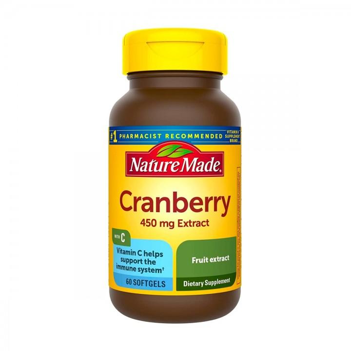 Nature Made Arandano con Vitamina-C 450 Mg 60 Softgels V3258 Nature Made